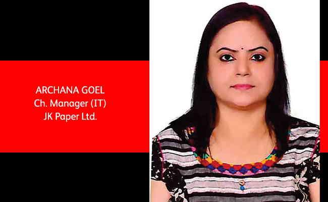 Archana Goel, Ch. Manager (IT) - JK Paper Ltd.
