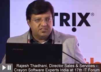 Rajesh Thadhani, Director Sales & Services - Crayon Software Experts India at 17th IT Forum 2019