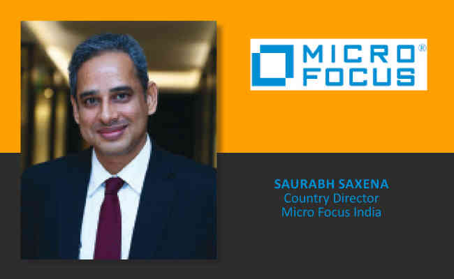 Saurabh Saxena,  Country Director - Micro Focus India