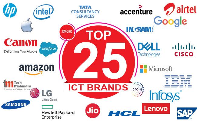 TOP 25 BRANDS IN INDIAN ICT INDUSTRY 2020