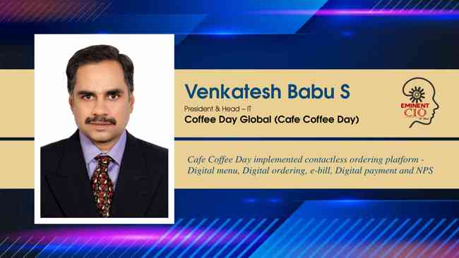 Cafe Coffee Day implemented contactless ordering platform - Digital menu, Digital ordering, e-bill, Digital payment and NPS