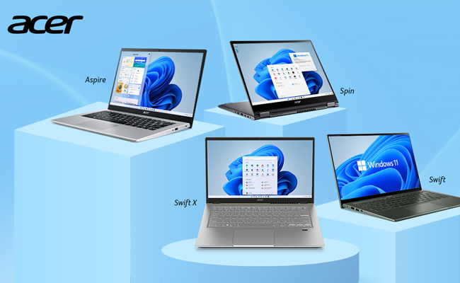 Acer introduces SIX new laptops with Pre-installed Windows 11