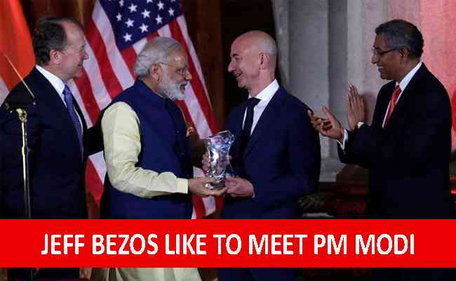 Amazon Founder likely to meet PM Modi during his India visit