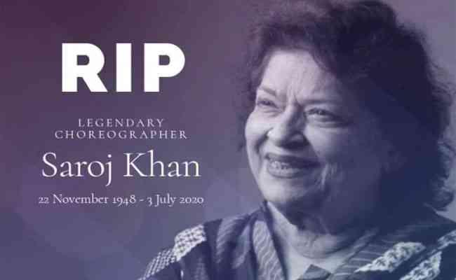 Dancing Diva Saroj Khan breathes her last today, Bollywood mou