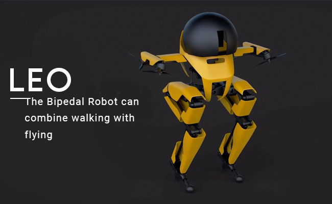 'LEO'- the Bipedal Robot can combine walking with flying