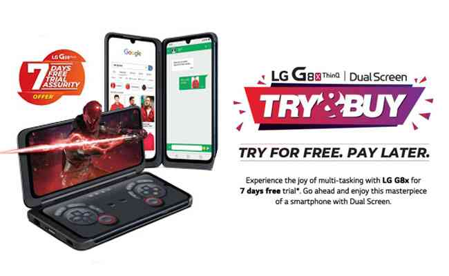 LG Electronics brings in the 'Try and Buy Offer' for its G8x T