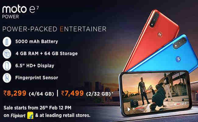 Motorola launches moto e7 power, priced at just Rs. 8,299