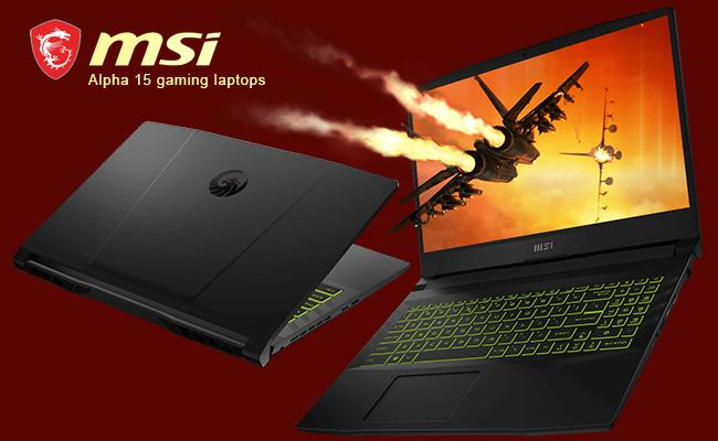 MSI updates Alpha 15 gaming laptops with AMD Ryzen 5000 H seri