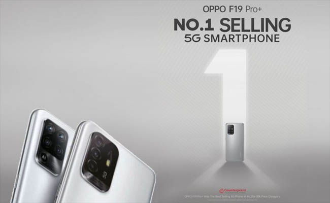 OPPO's F19 Pro+ 5G becomes No.1 selling 5G smartphone as per C