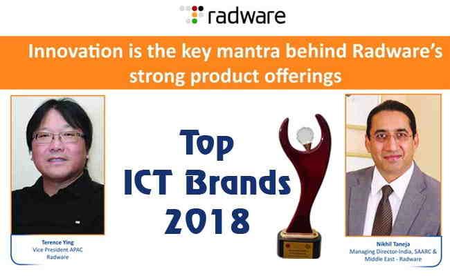 TOP ICT BRANDS 2018: RADWARE INDIA PVT. LTD.