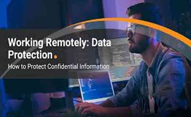 How to secure confidential data while working remotely