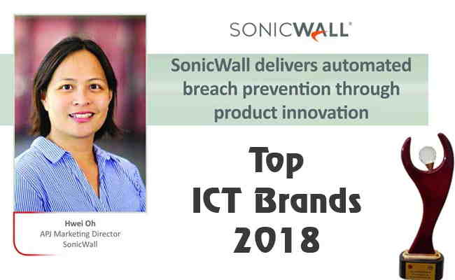 TOP ICT BRANDS 2018: SONICWALL