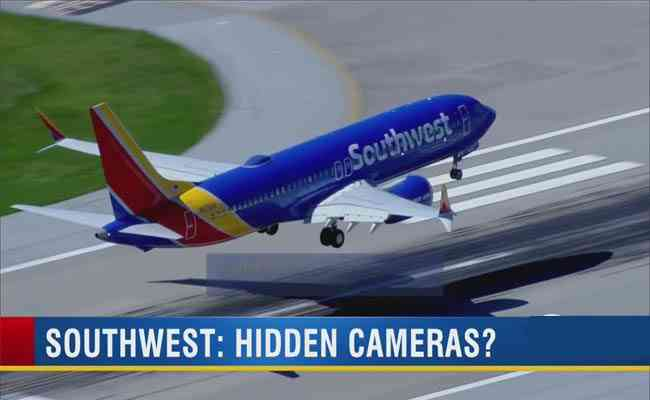 Southwest flight attendant fixed hidden-camera in the bathroom