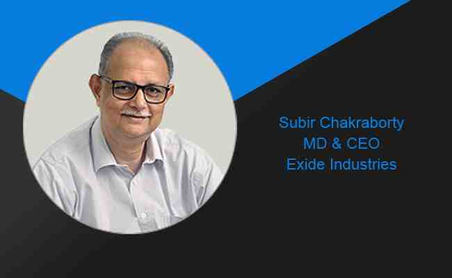 Subir Chakraborty appointed as MD & CEO of Exide Industries