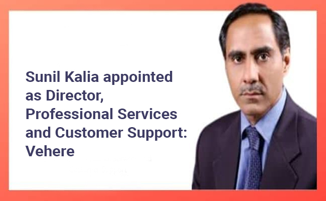Sunil Kalia appointed as Director, Professional Services and C