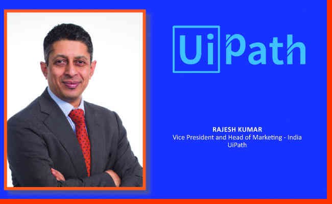 Rajesh Kumar,  Vice President and Head of Marketing - India UiPath