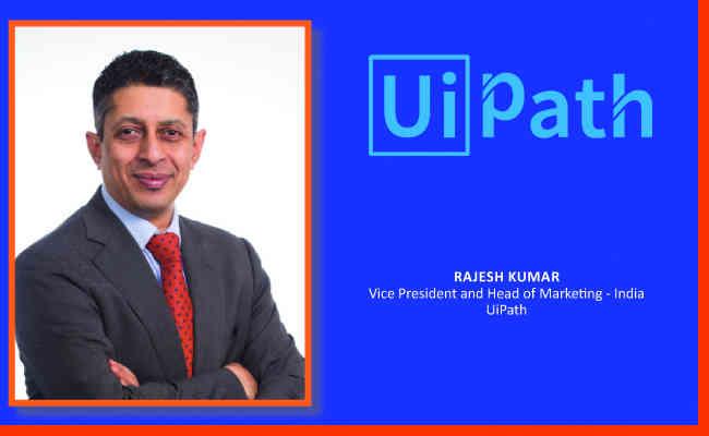 Rajesh Kumar,  Vice President and Head of Marketing - India UiPath