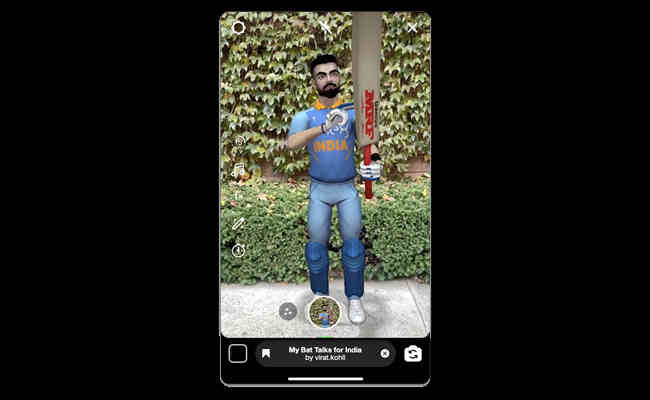Virat Kohli comes to Facebook and Instagram in Augmented Reali
