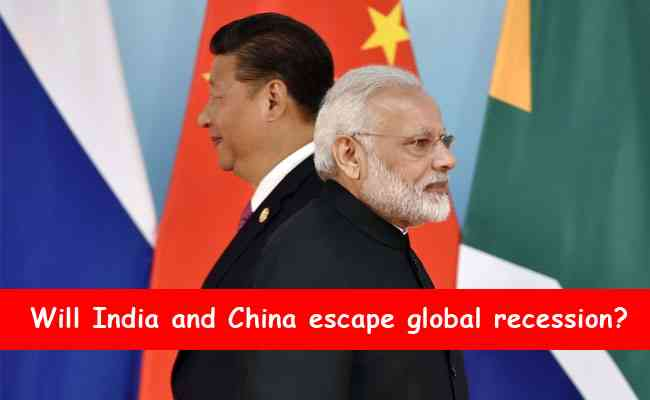 Will India and China escape global recession?