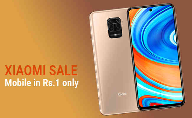 Xiaomi Sale today Get 48 MP Camera only in Rs 1 with 600mAh Ba