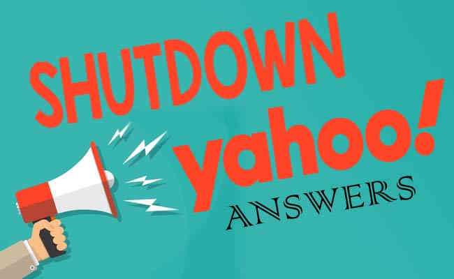 The closure of Yahoo Answers from 4th May