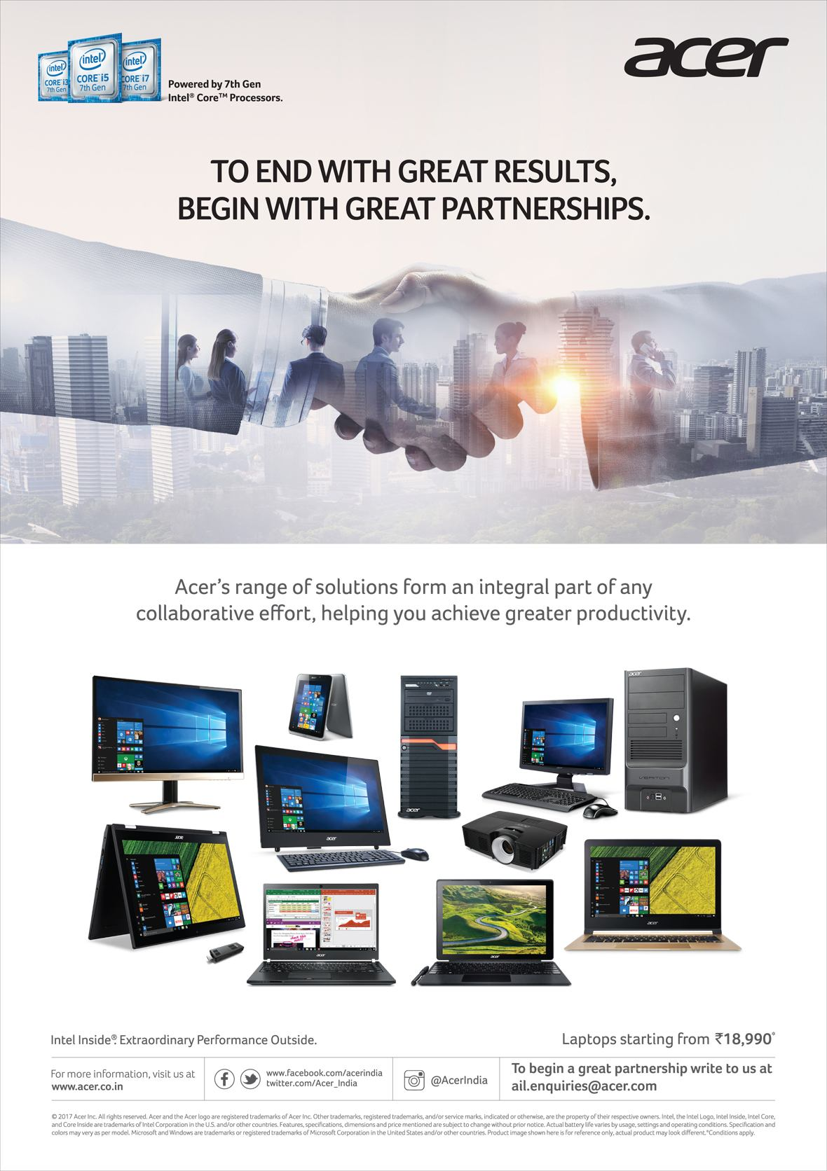 Acer India Pvt Ltd - Most Advertisement Brand by My Brand Book