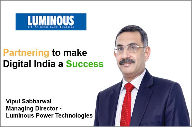Vipul Sabharwal Managing Director - Luminous Power Technologies
