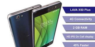 LAVA X50 Budget 4G Smartphones Launched in India
